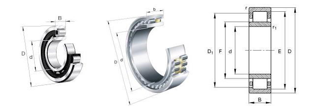 NSK NU 313 E Bearing, NSK NU 313 E Bearing Dimensions-www
